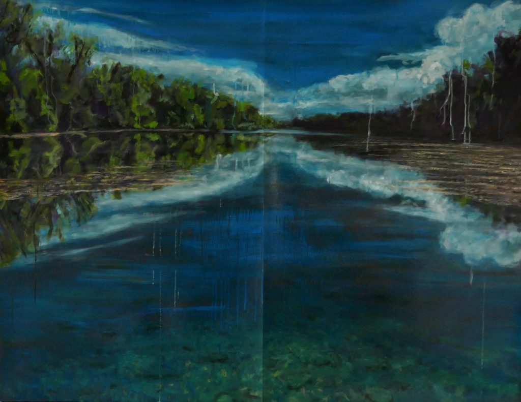 Danube or Canal Oil on Paper